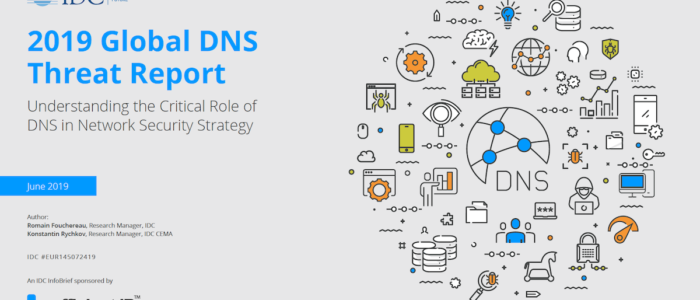 2019 IDC Global DNS Threat Report front page