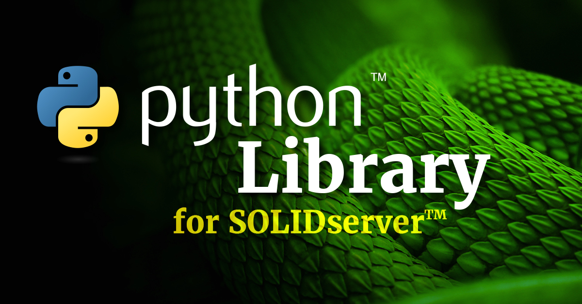 Python Library for EfficientIP SOLIDserver