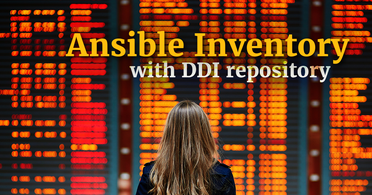 Ansible inventory with DDI repository