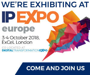 We're exhibiting at IP EXPO Europe 2018